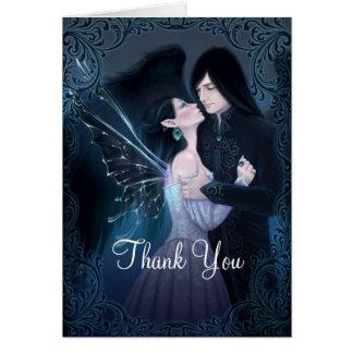 Sapphire Romantic Fairy Angel Thank You Card