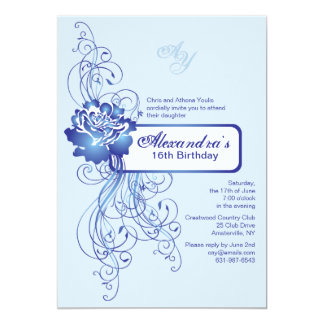 Sapphire Rose Invitation