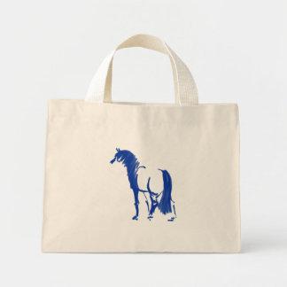 Sapphire Sumi-e Horse Tote Bag