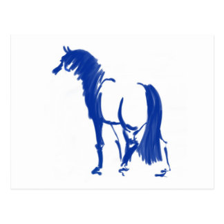 Sapphire Sumi-e Stallion Postcard