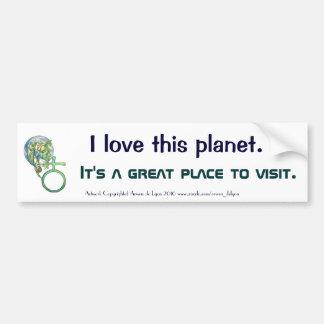 Sapphire Terra Car Bumper Sticker