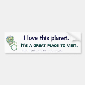 Sapphire Terra Bumper Sticker