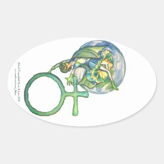 Sapphire Terra Oval Sticker