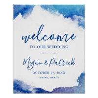 Sapphire Tide Wedding Welcome Sign