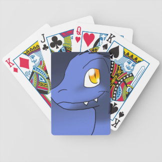 Sapphire-Tint Microraptor Bicycle Playing Cards