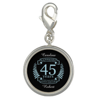 Sapphire Traditional 45th wedding anniversary Photo Charms