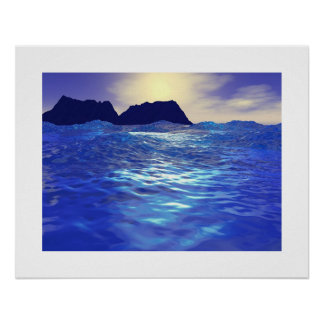 Sapphire Waves Poster