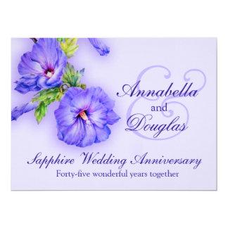 Sapphire wedding anniversary 45 years invitation