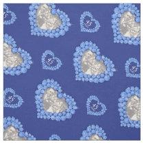 Sapphire wedding anniversary custom photo pattern fabric