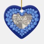 Sapphire Wedding Anniversary heart ornament