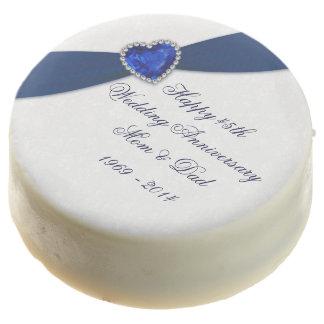 Sapphire Wedding Anniversary Oreo Cookies Chocolate Dipped Oreo