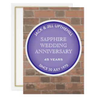 Sapphire Wedding Anniversary Party Invitation