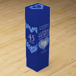 Sapphire wedding sparkle stones photo wine box