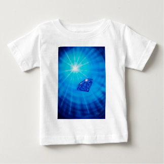 Sapphire with diamond cross section baby T-Shirt