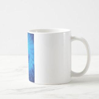 Sapphire with diamond cross section classic white coffee mug