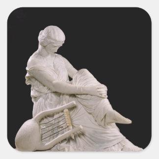 Sappho, 1852 pegatina cuadrada