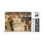 Sappho and Alcaeus by Sir Lawrence Alma Tadema Postage Stamp