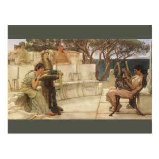 Sappho and Alcaeus by Sir Lawrence Alma Tadema Post Card