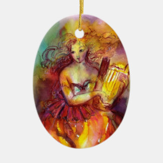 SAPPHO ,DANCE, MUSIC AND POETRY CERAMIC ORNAMENT