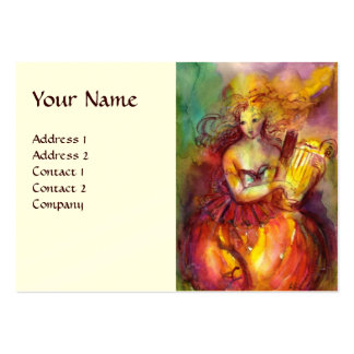 SAPPHO,DANCE MUSIC AND POETRY,cream Large Business Cards (Pack Of 100)