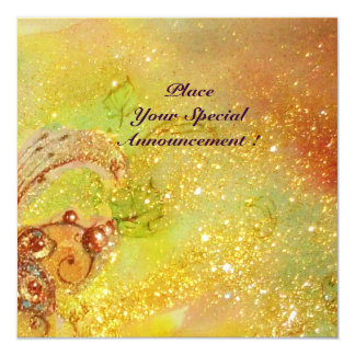 SAPPHO,DANCE MUSIC AND POETRY ,Gold Sparkles Card
