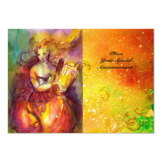 SAPPHO ,DANCE ,MUSIC AND POETRY, Gold Sparkles Card