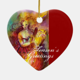 SAPPHO ,DANCE, MUSIC AND POETRY,Heart Ceramic Ornament