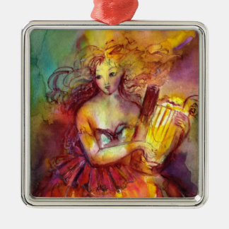 SAPPHO ,DANCE, MUSIC AND POETRY,Heart Metal Ornament