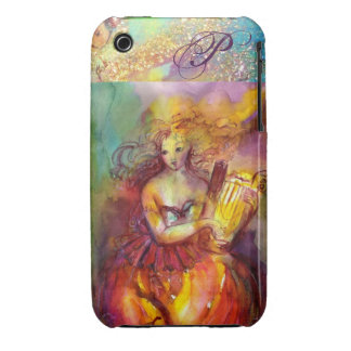 SAPPHO ,DANCE, MUSIC AND POETRY MONOGRAM iPhone 3 CASE