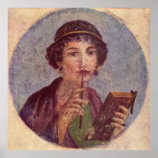 Sappho de Pompeya Póster