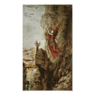 Sappho en Lefkada de Gustave Moreau Cojinete