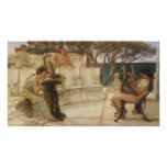 Sappho y Alcaeus de Alma Tadema, arte del vintage Póster