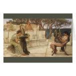 Sappho y Alcaeus de Alma Tadema, arte del vintage Tarjeta De Felicitación