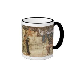 Sappho y Alcaeus de Alma Tadema, arte del vintage Taza A Dos Colores