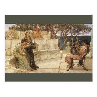 Sappho y Alcaeus de sir Lorenzo Alma Tadema Postal