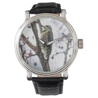 Sapsucker Amarillo-hinchado Relojes De Pulsera