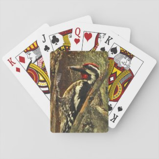 Sapsucker Woodpecker Bird Playing Cards