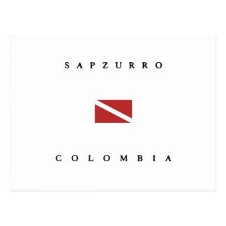 Sapzurro Colombia Scuba Dive Flag Postcard