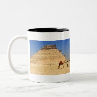 Saqqara pyramid Egypt Africa Two-Tone Coffee Mug
