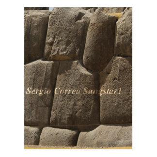 Saqsaywaman in Peru Postcard