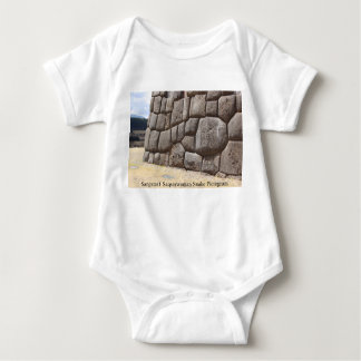 Saqsaywaman Snake Pictogram Baby Bodysuit