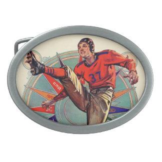 Saque de centro hebilla de cinturón oval