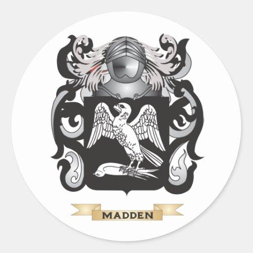 Saque de quicio el escudo de armas (el escudo de pegatinas redondas