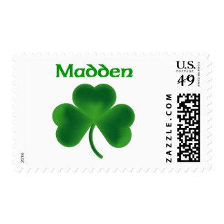 Saque de quicio el trébol sello postal