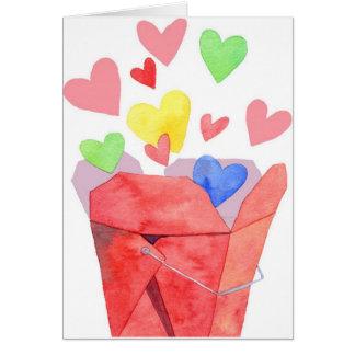 Saque el amor - tarjeta de nota