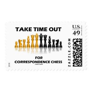 Saque el tiempo para el ajedrez de la corresponden sello