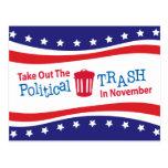 Saque la basura política en Novemer Postal
