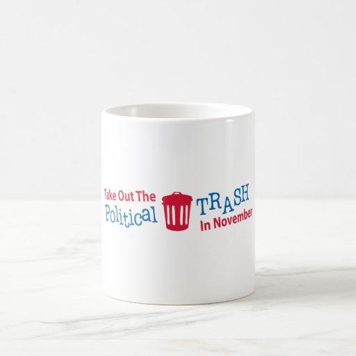 Saque la basura política en Novemer Tazas De Café