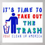 Saque la camisa de la basura poster