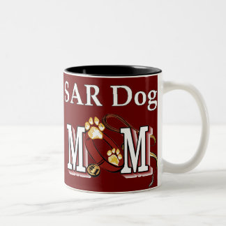 SAR Search and Rescue Dogs Two-Tone Coffee Mug